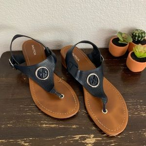 Nautica | Black sandals with straps size 9